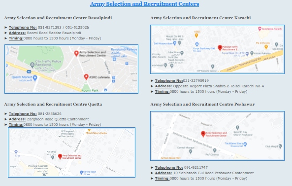 Army Selection and Recruitment Centers