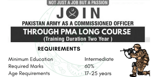 Join Pak Army PMA long Course